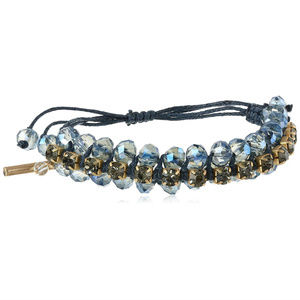 KENNETH COLE WovenFaceted Bead Friendship Bracelet